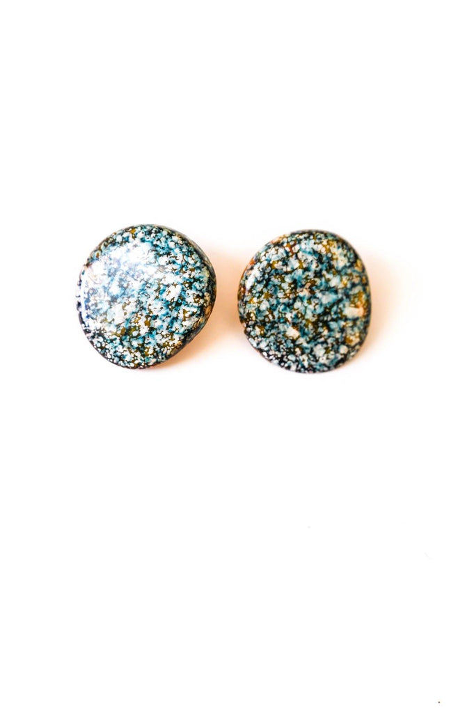 Splatter Statement Pierced Earrings