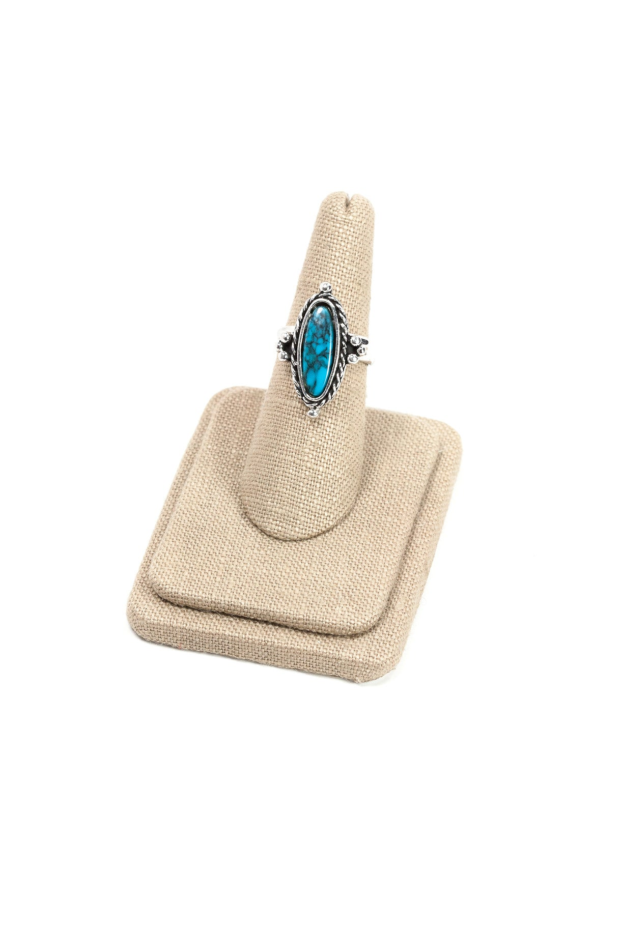 70's__Vintage__Adjustable Turquoise Ring
