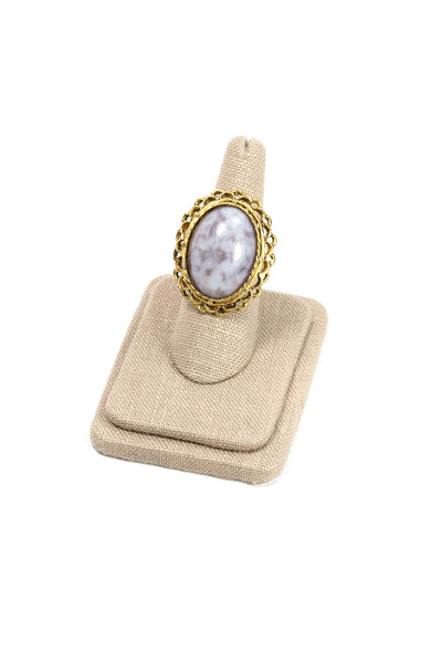 70's__Vintage__Adjustable Marble Cocktail Ring