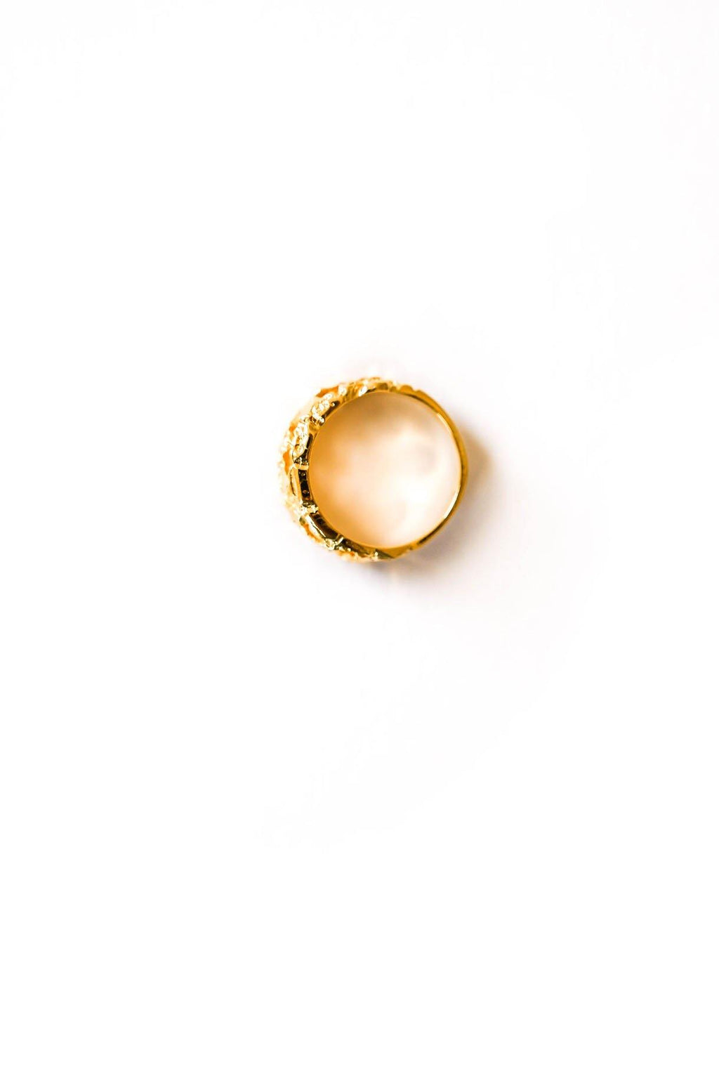 Textured Gold Ring