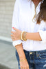 70's__Monet__Statement V Bracelet