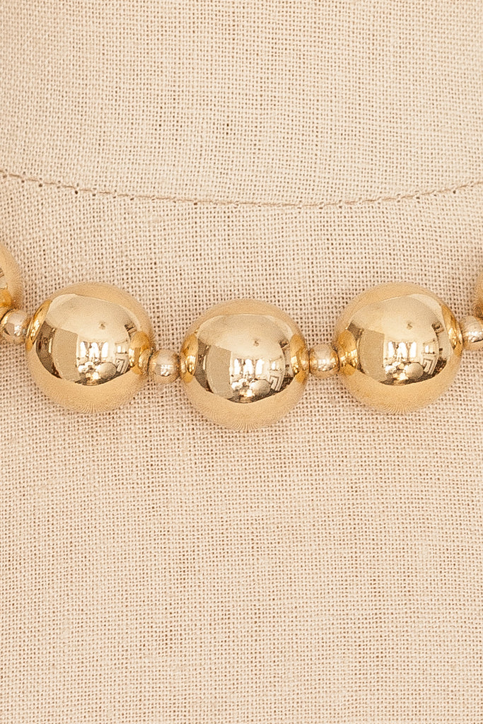 80's__Monet__Bold Ball Statement Necklace
