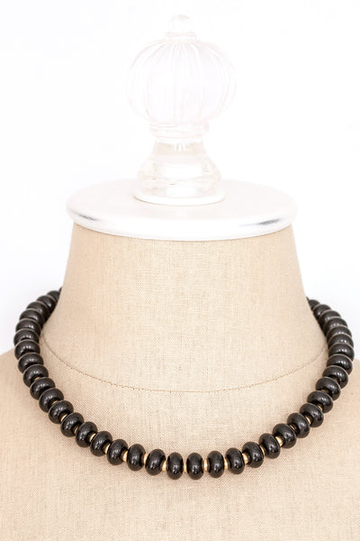80's__Napier__Black Beaded Necklace