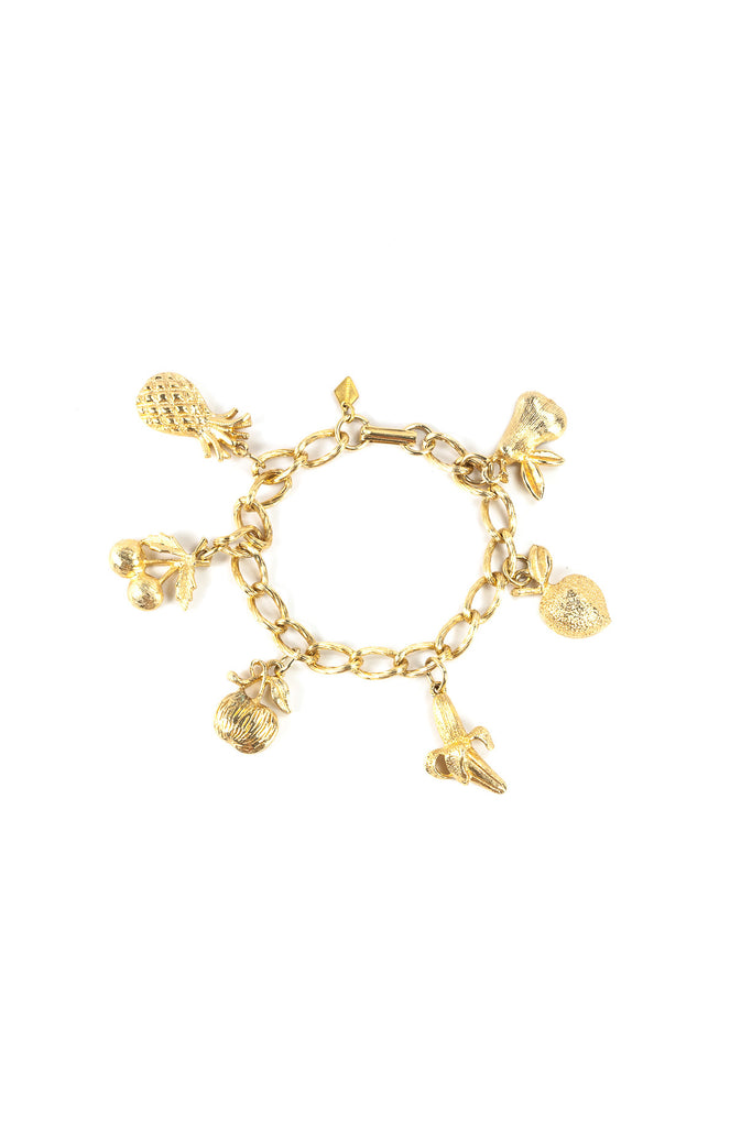 60's__Sarah Coventry__Tropical Fruit Charm Bracelet