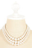 50's__Vintage__Multi Strand Pearl Necklace