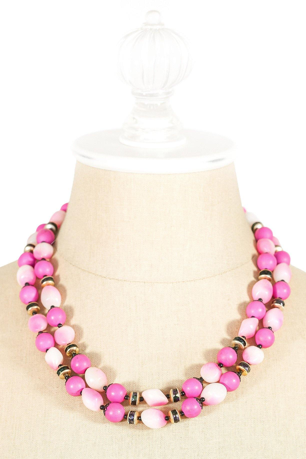 40's__Vintage__Pink Ball Necklace