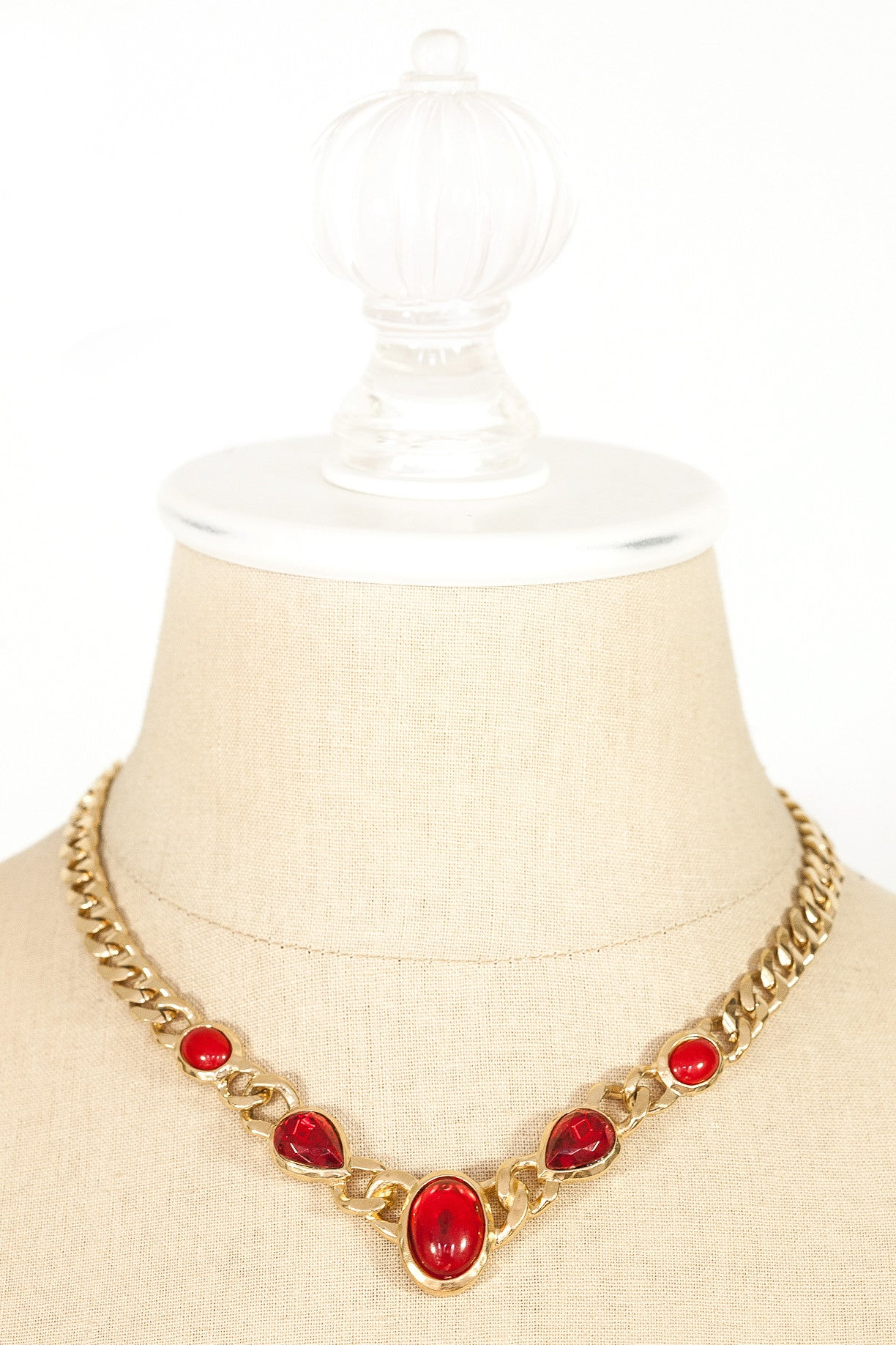 80's__Trifari__Red Statement Necklace