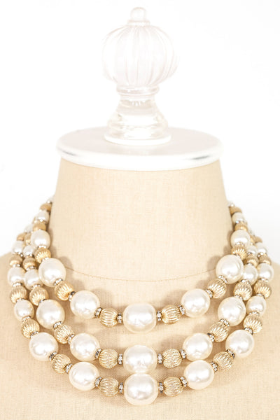 50's__Vendome__Statement Pearl Necklace