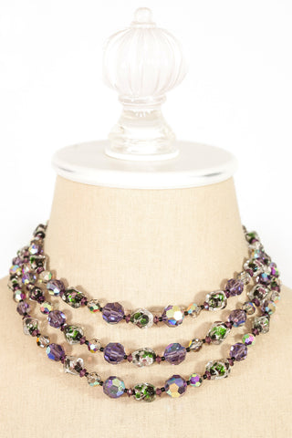 50's__Vendome__Crystal Statement Ball Necklace
