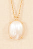 80's__Monet__Pearl Pendant Necklace
