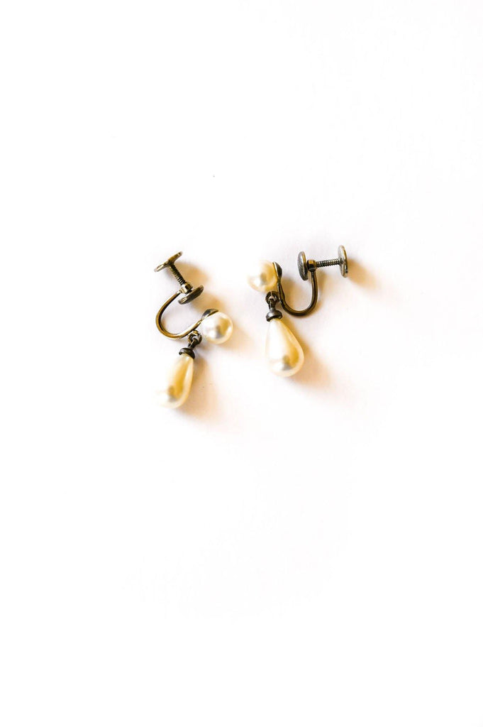 Dainty Pearl Drop Clip-on Earrings