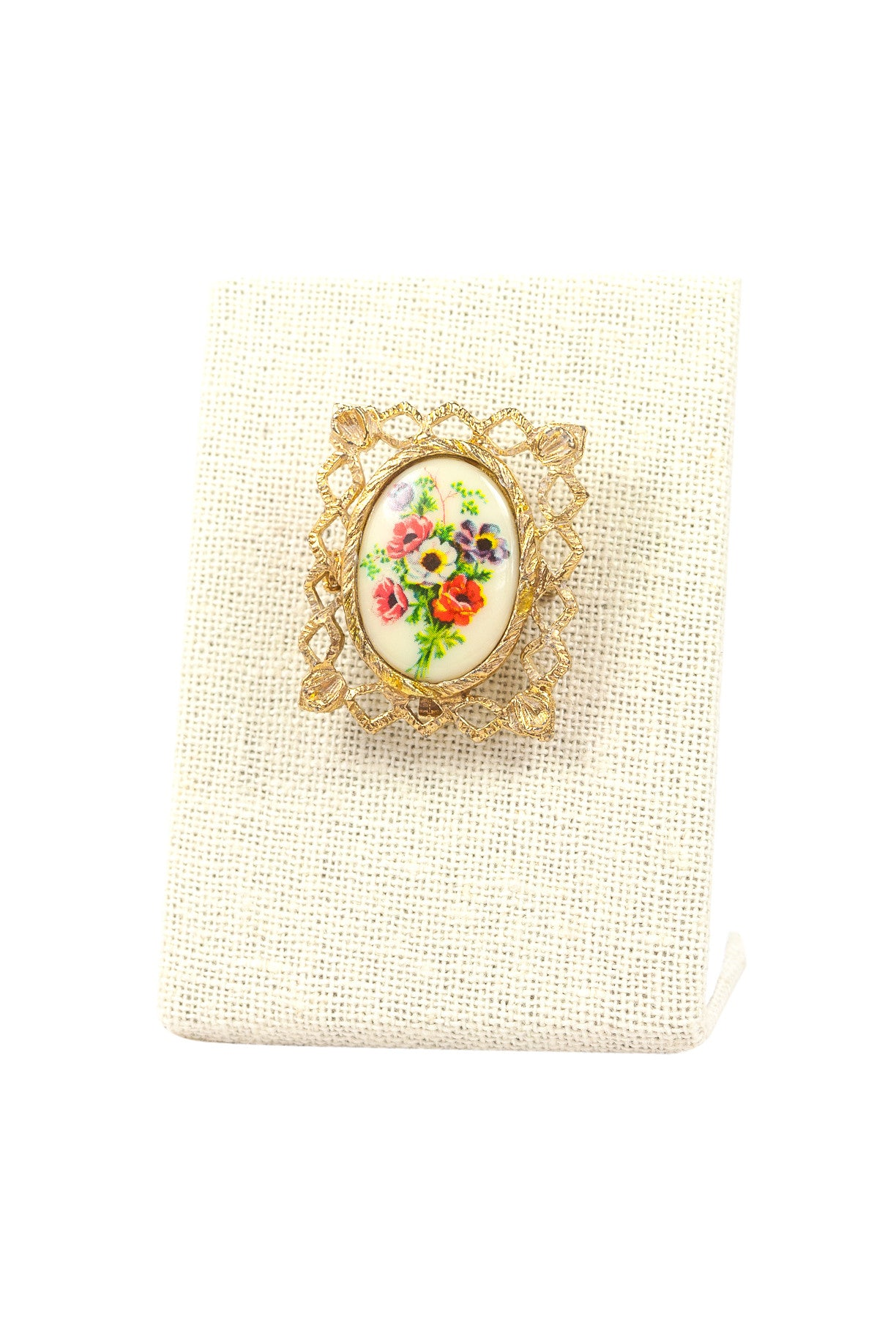 50's__Vintage__Antique Floral Brooch