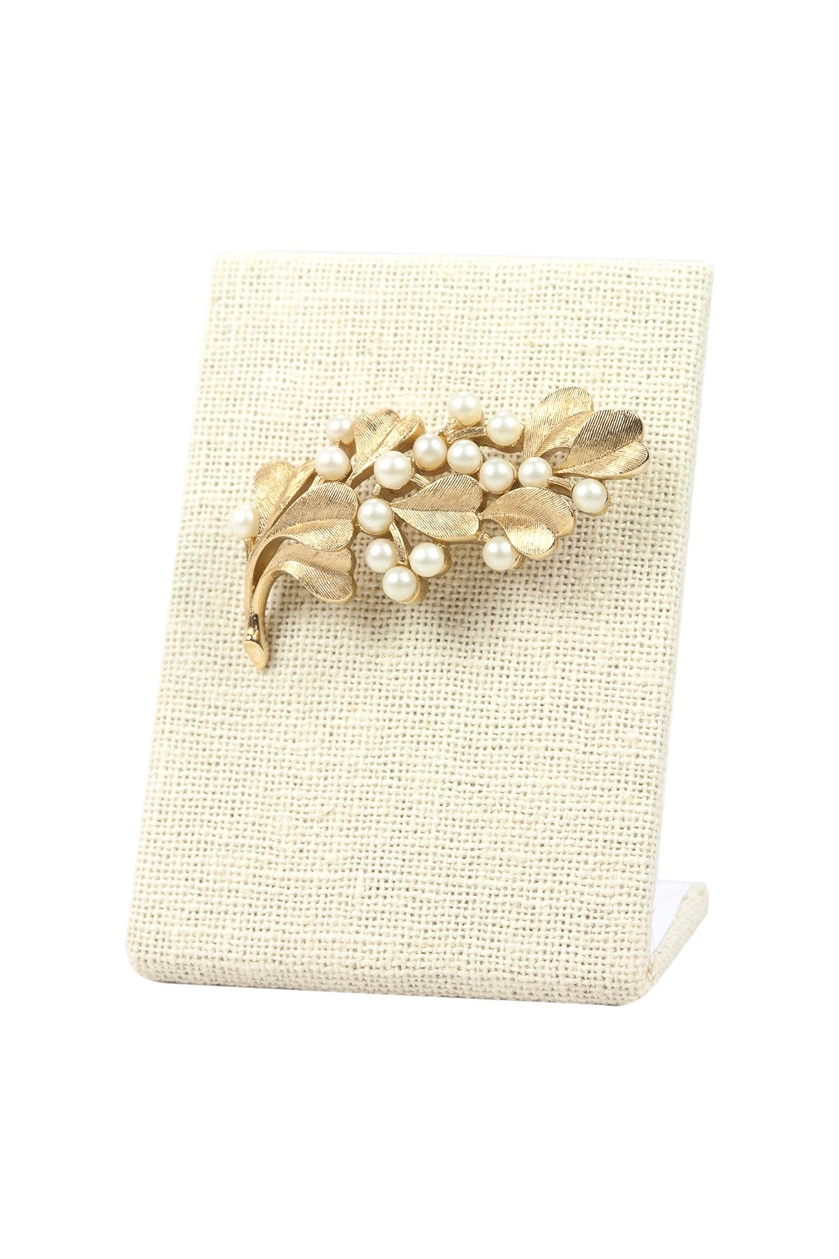 50's__Trifari__Pearl Branch Brooch