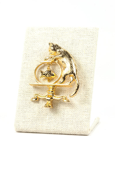 80's__Avon__Cat and Fish Brooch