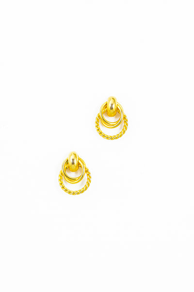 80's__Vintage__Rope Ring Earrings