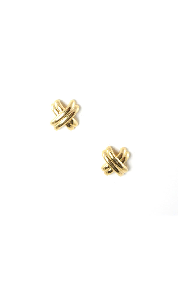 70's__Monet__X Stud Earrings