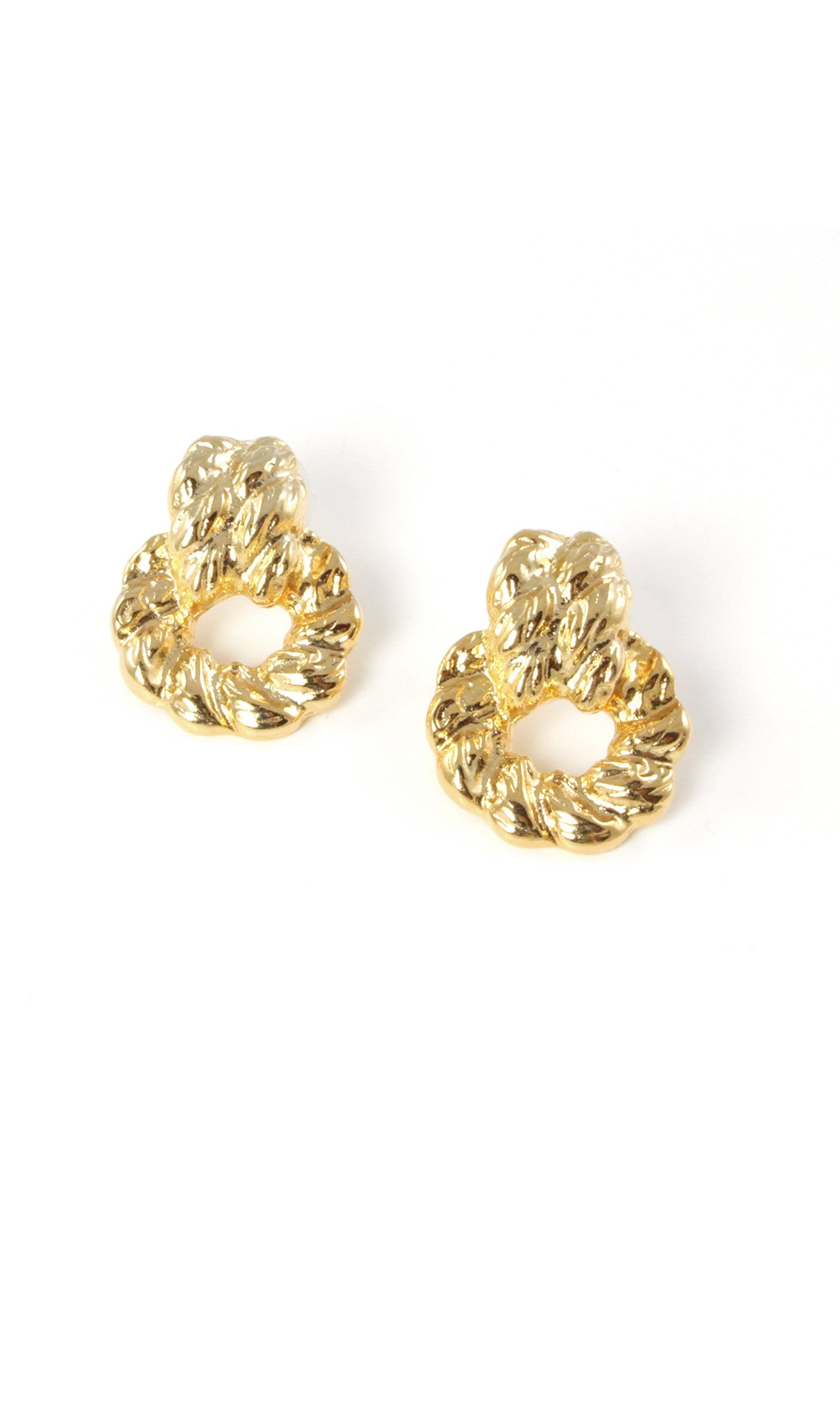 80's__Vintage__Bold Drop Ring Earrings