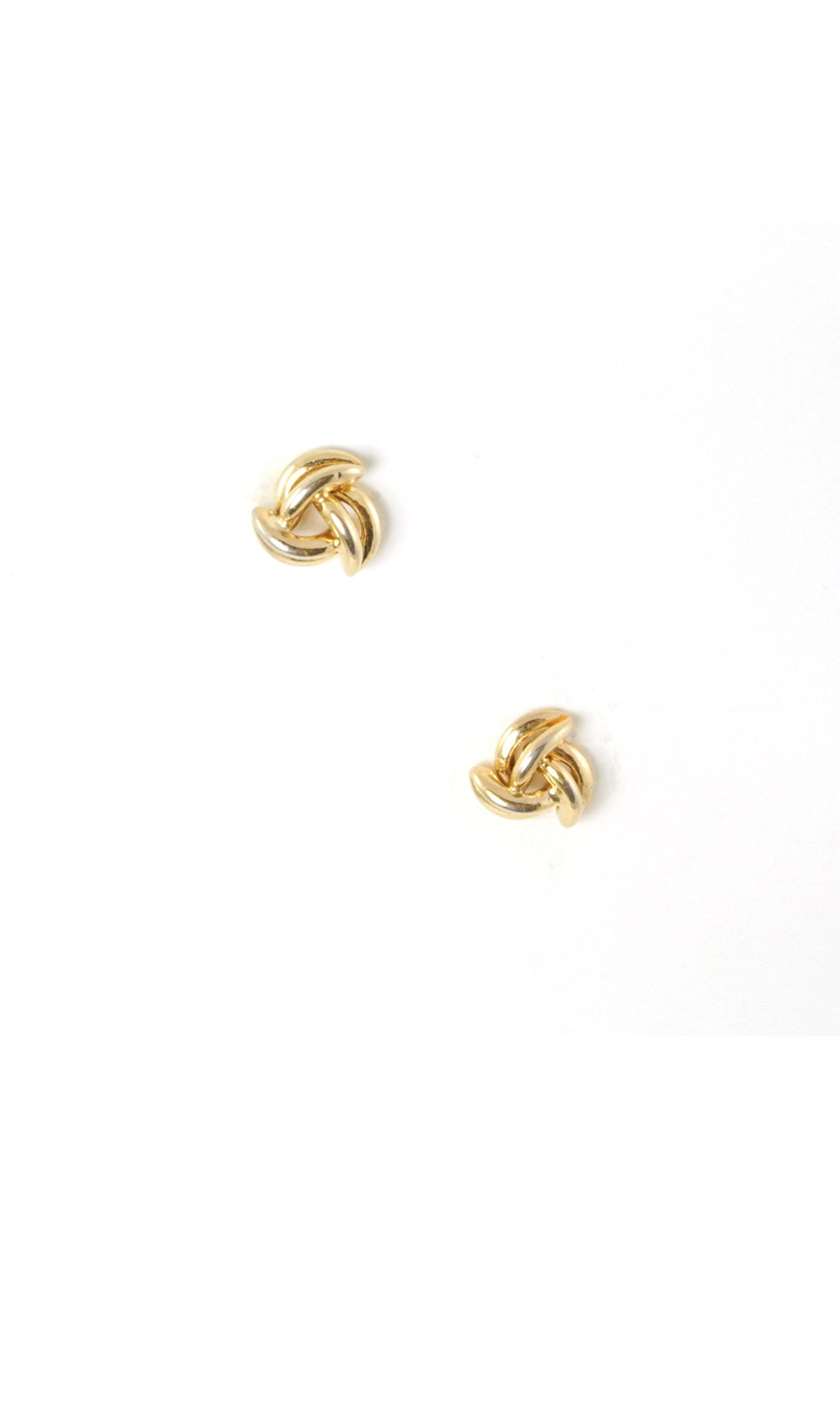 70's__Vintage__Scallop Knot Stud Earrings