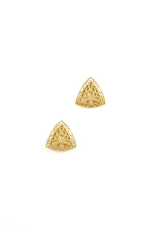 70's__Rosecraft__Lace Triangle Earrings