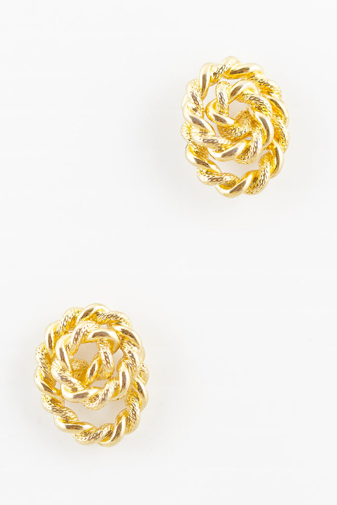 70's__Monet__Rope Coil Earrings