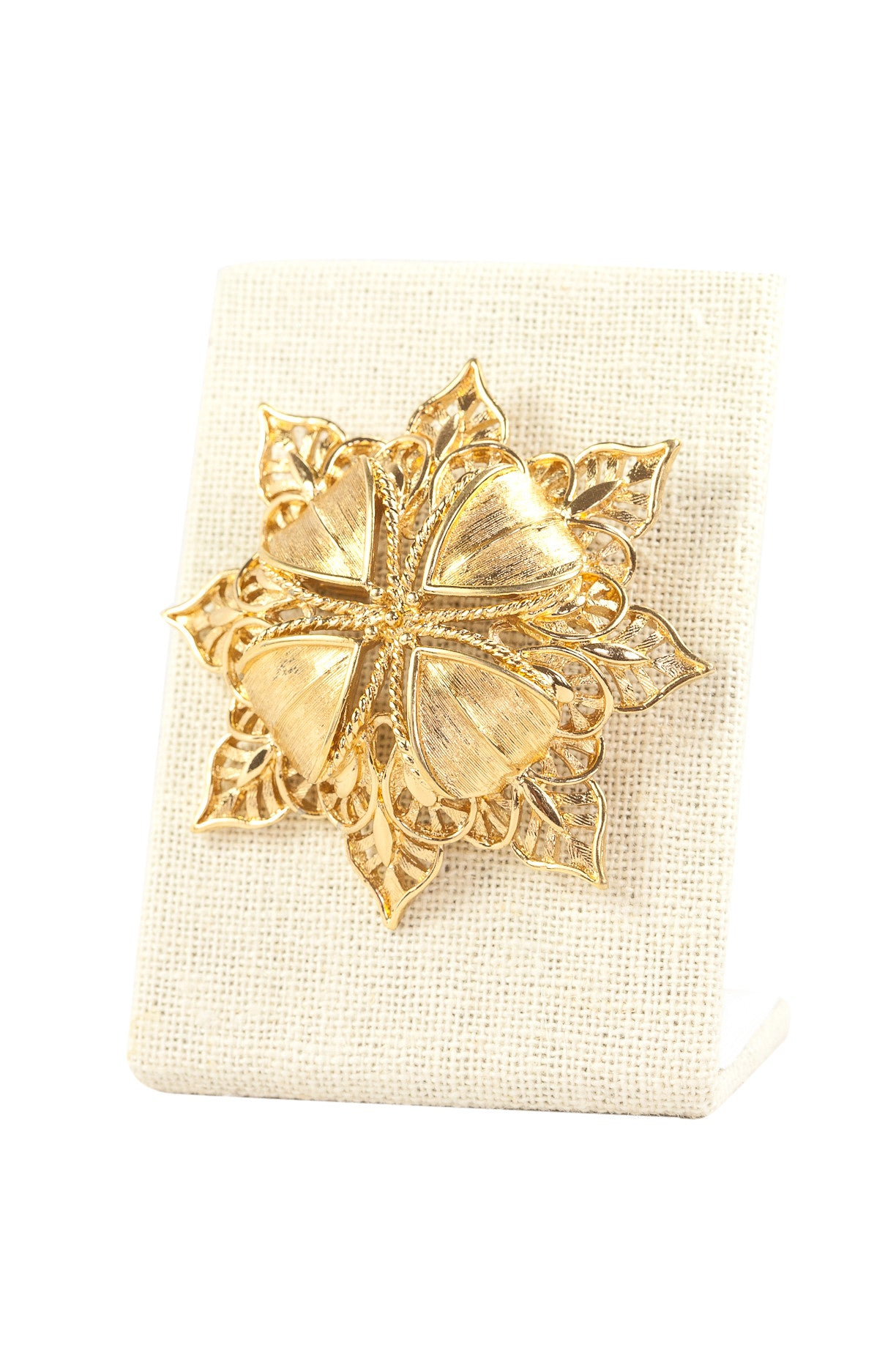 70's__Monet__Snowflake Burst Brooch