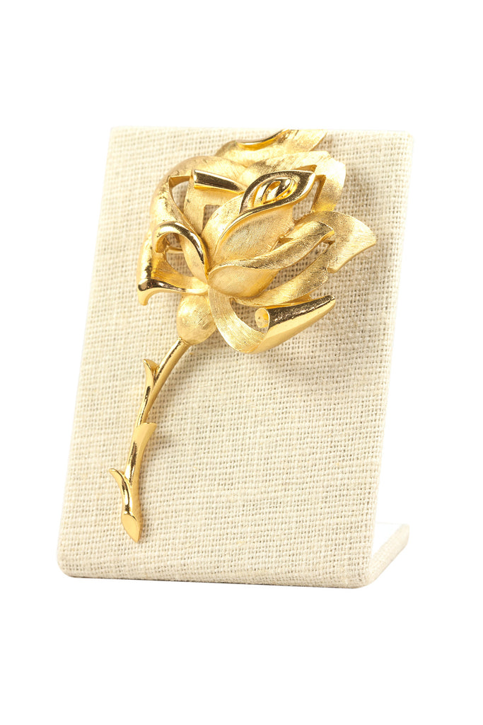 50's__Trifari__Statement Rose Brooch