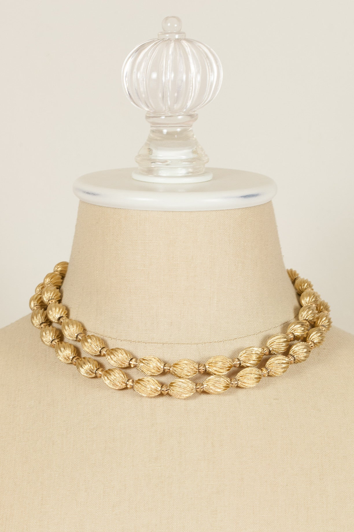 70's__Monet__Chunky Tube Strand Necklace