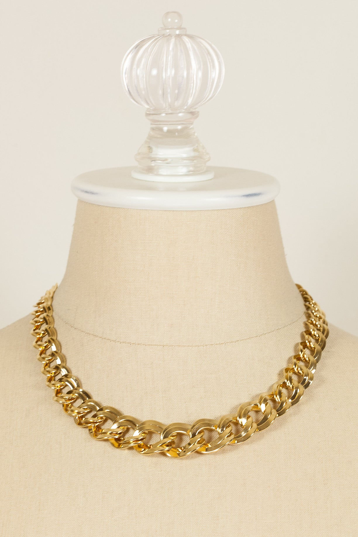 80's__Monet__Double Link Chunky Chain Necklace