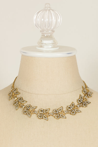 Vintage Butterfly Link Necklace
