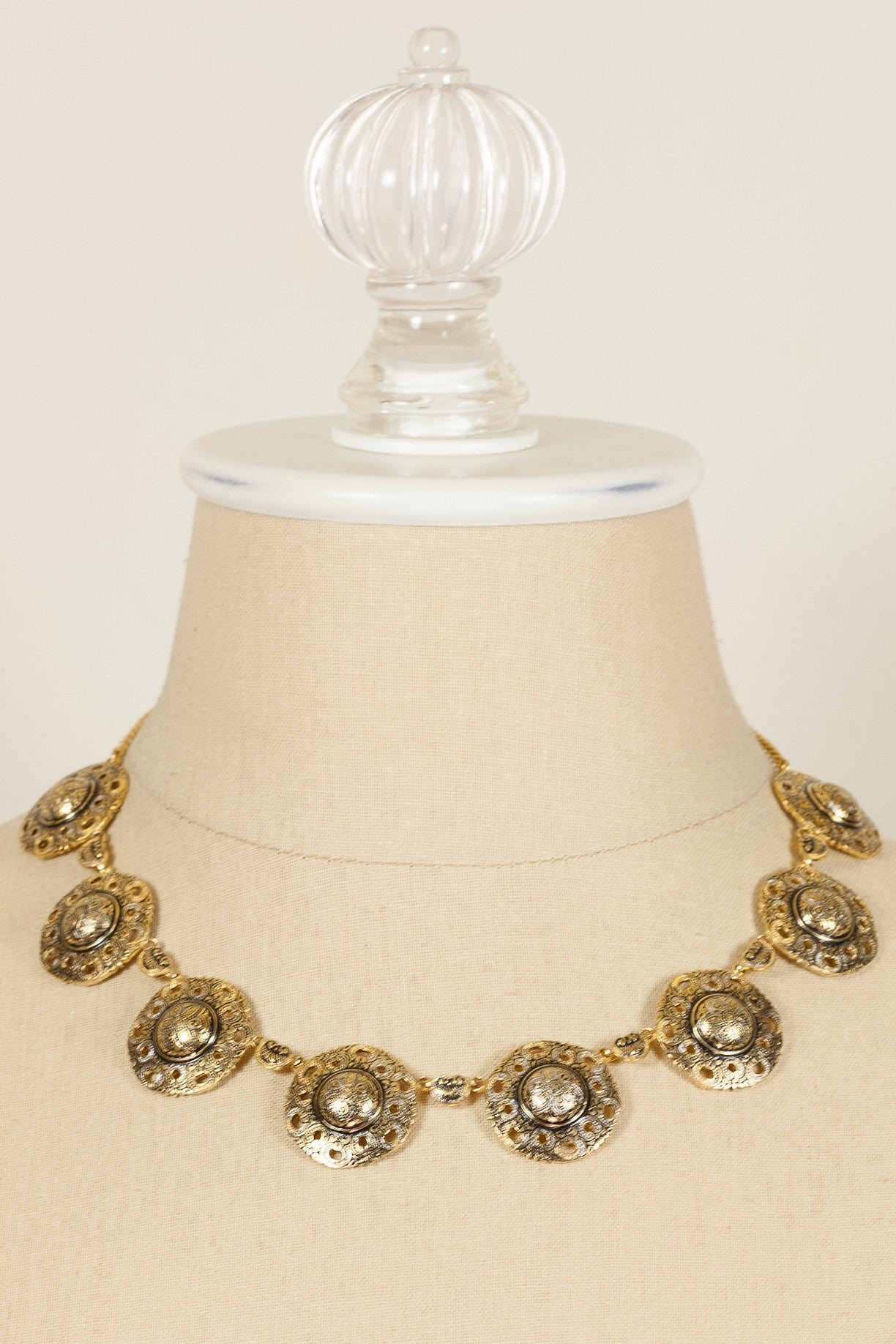 60's__Spain__Medallion Link Necklace