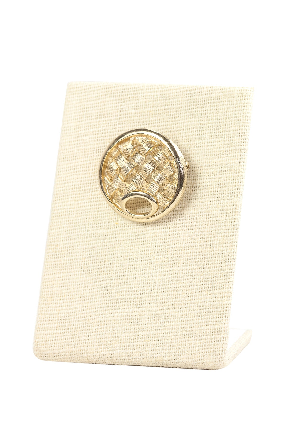 60's__Sarah Coventry__Mini Basketweave Brooch