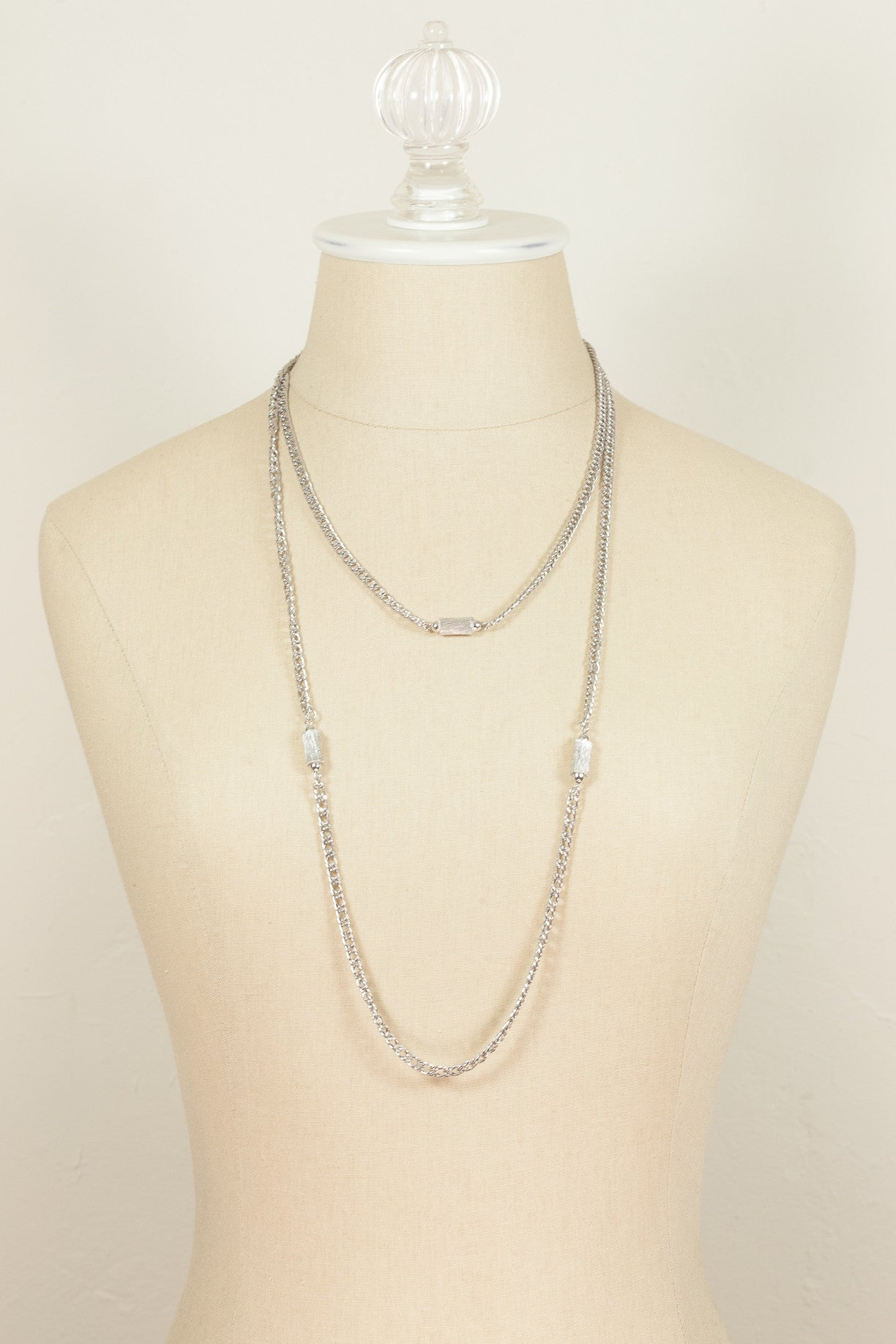 70's__Monet__Silver Chain Necklace