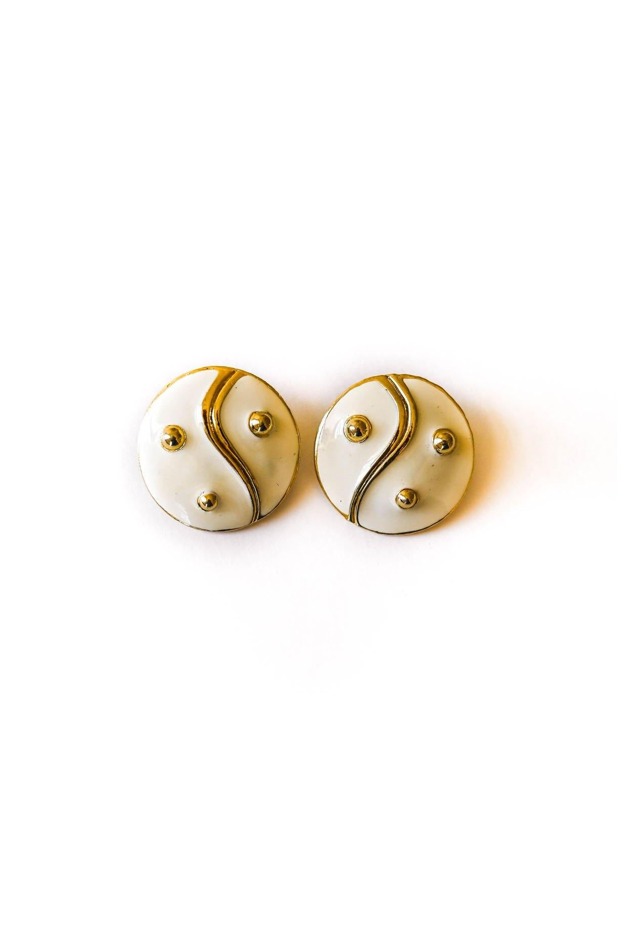 Yin Yang Clip-on Earrings