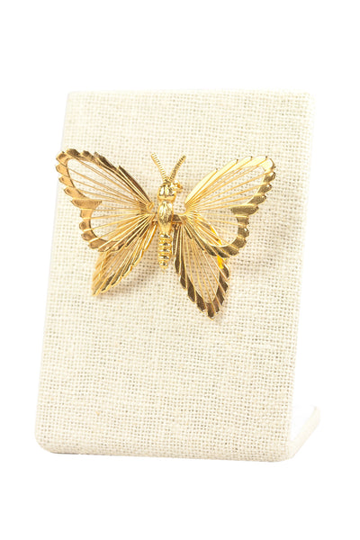 70's__Monet__Butterfly Brooch