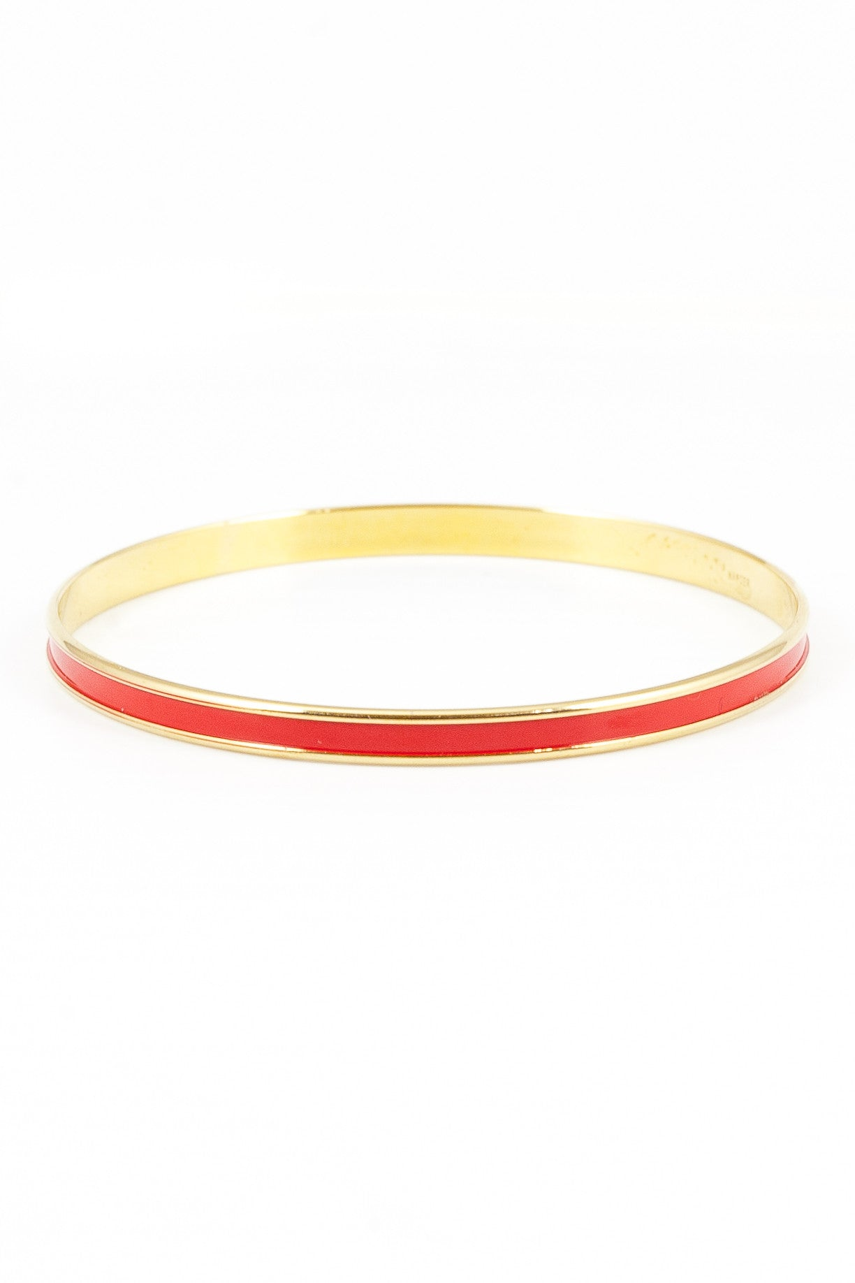 50's__Napier__Skinny Red Enamel Bangle