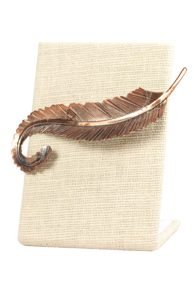 70's__Vintage__Copper Feather Brooch