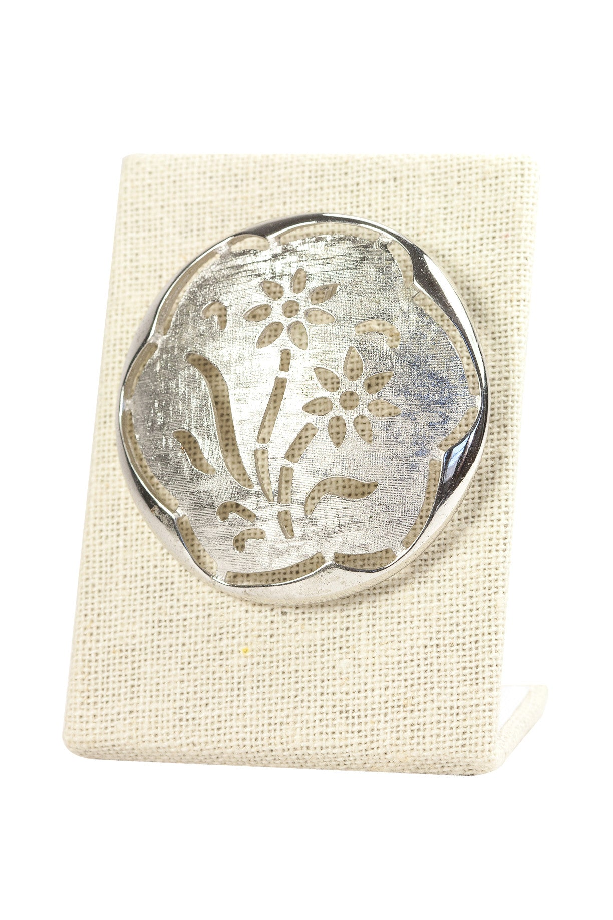 70's__Sarah Coventry__Silver Lace Brooch