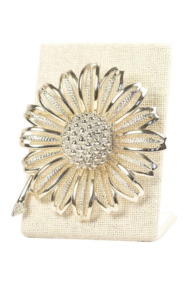 60's__Sarah Coventry__Statement Sunflower Brooch
