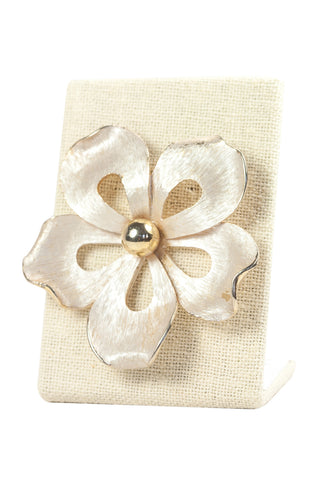 60's__Pastelli__Statement Flower Brooch