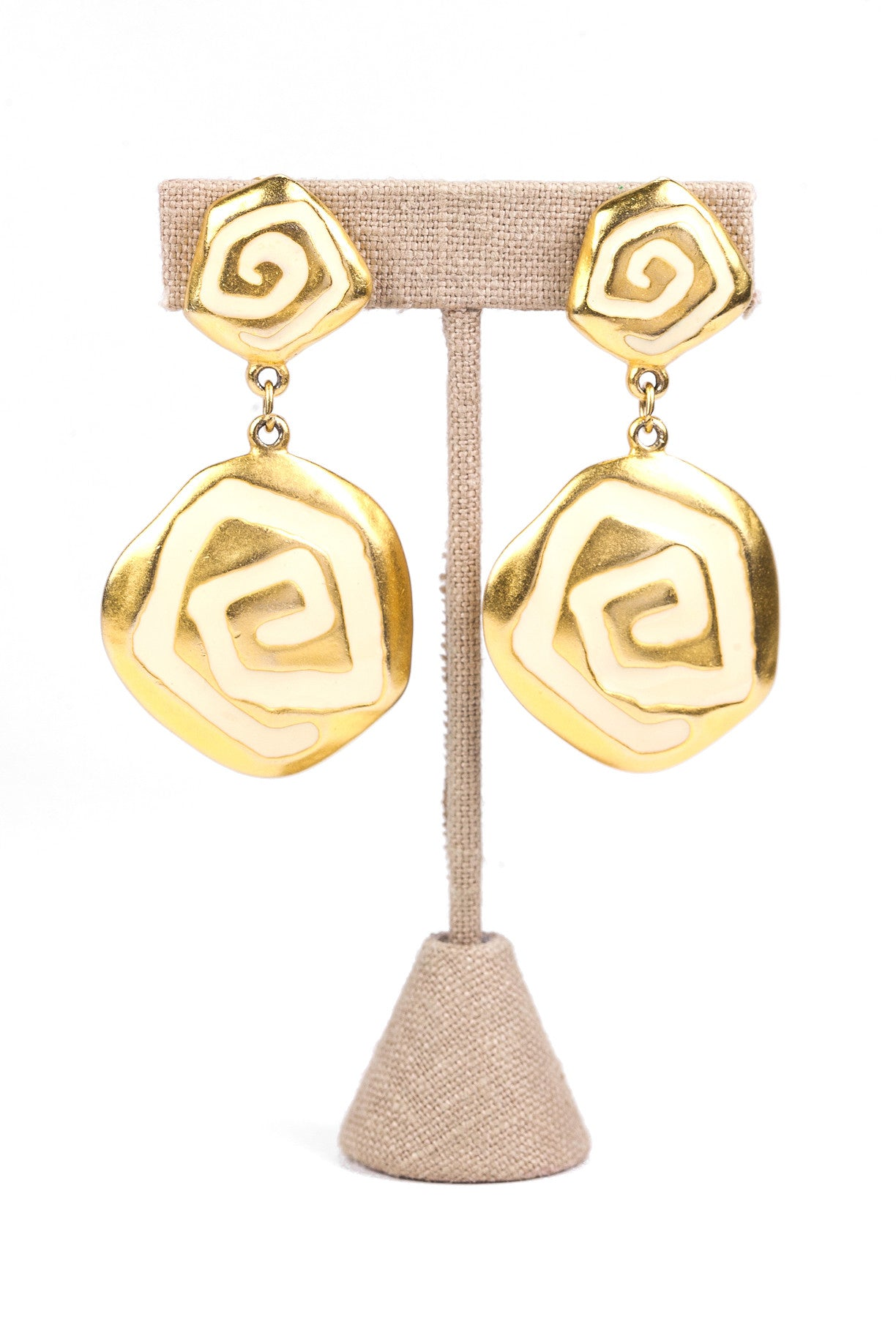 80's__Vintage__Statement Drop Clip-on Earrings
