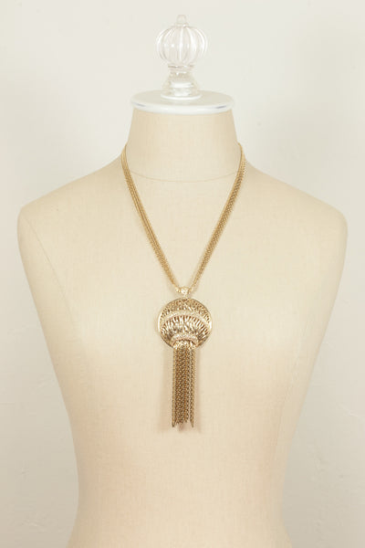 80's__Monet__Tassel Pendant Necklace