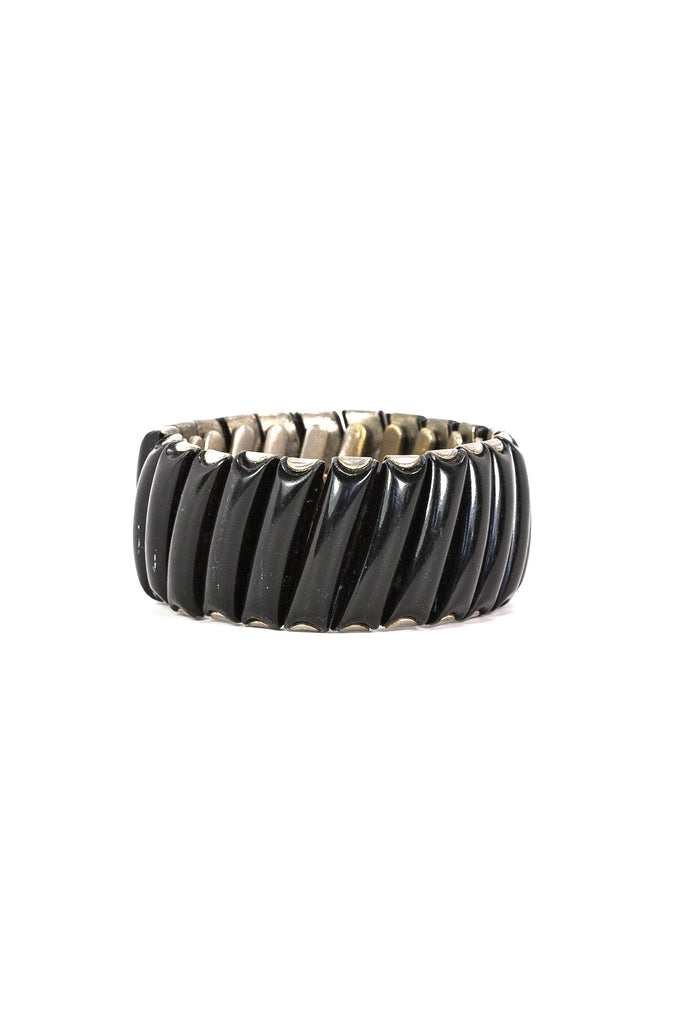 60's__Vintage__Black Expansion Bangle