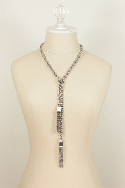 60's__Vintage__Silver Tassel Necklace