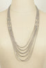 80's__Monet__Multi Silver Chain Necklace