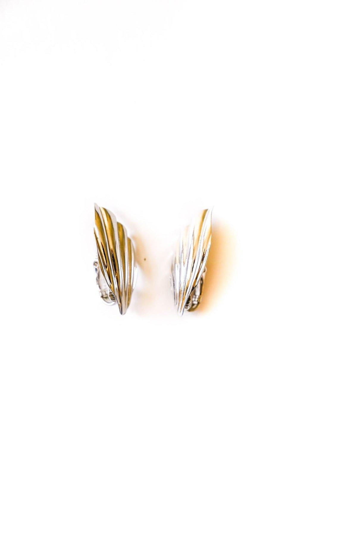Swooping Silver Clip-on Earrings - Sweet & Spark