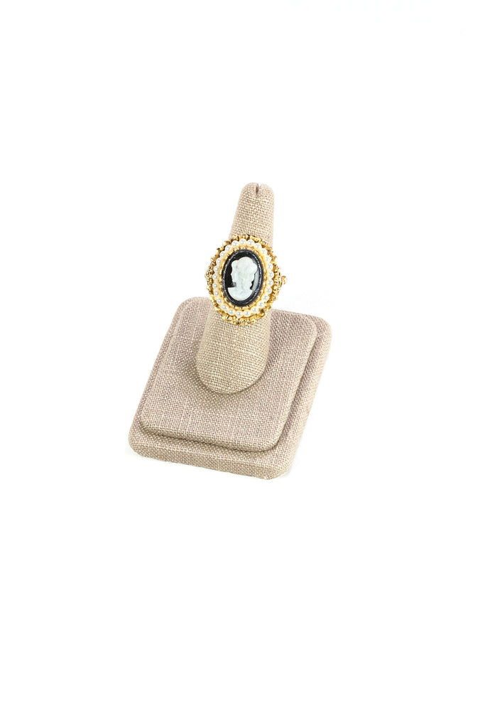 Vintage Cameo Statement Ring
