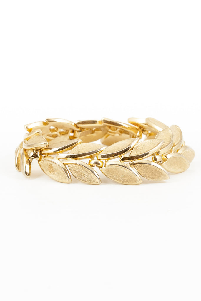 70's__Trifari__Leaf Statement Bracelet