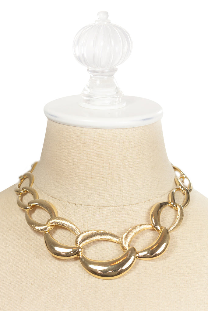 80's__Napier__Chunky Double Link Necklace