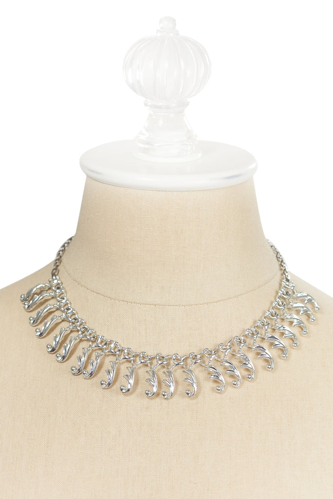 60's__Sarah Coventry__Classic Silver Fringe Necklace