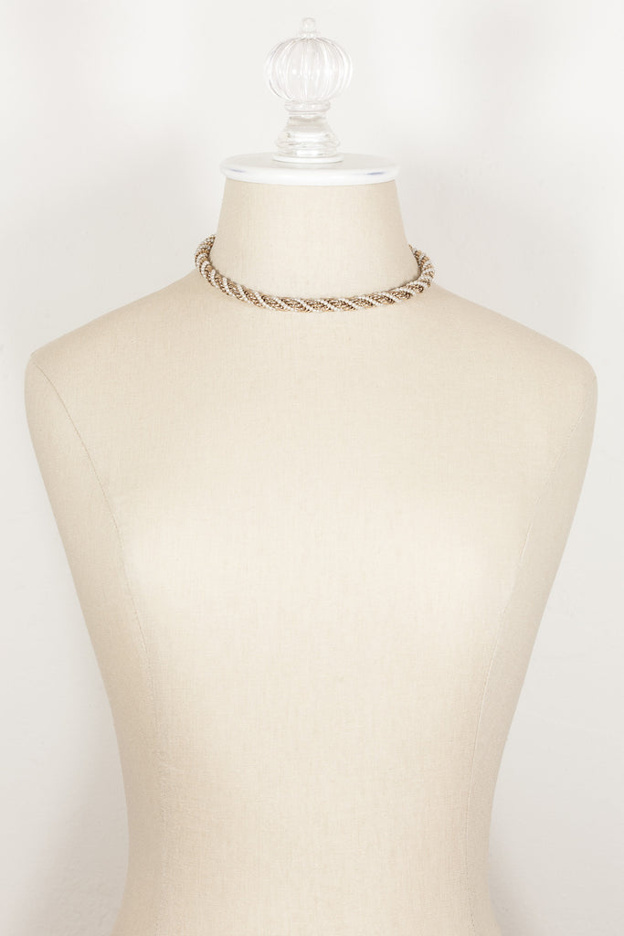 80's__Sarah Coventry__Gold and Pearl Rope Chain Necklace
